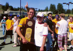 Jerry with Matt Brunner of the 2005 National Champion UCSC Banana Slugs