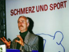 Dr. Lynch speaking at sports medicine convention in Germany